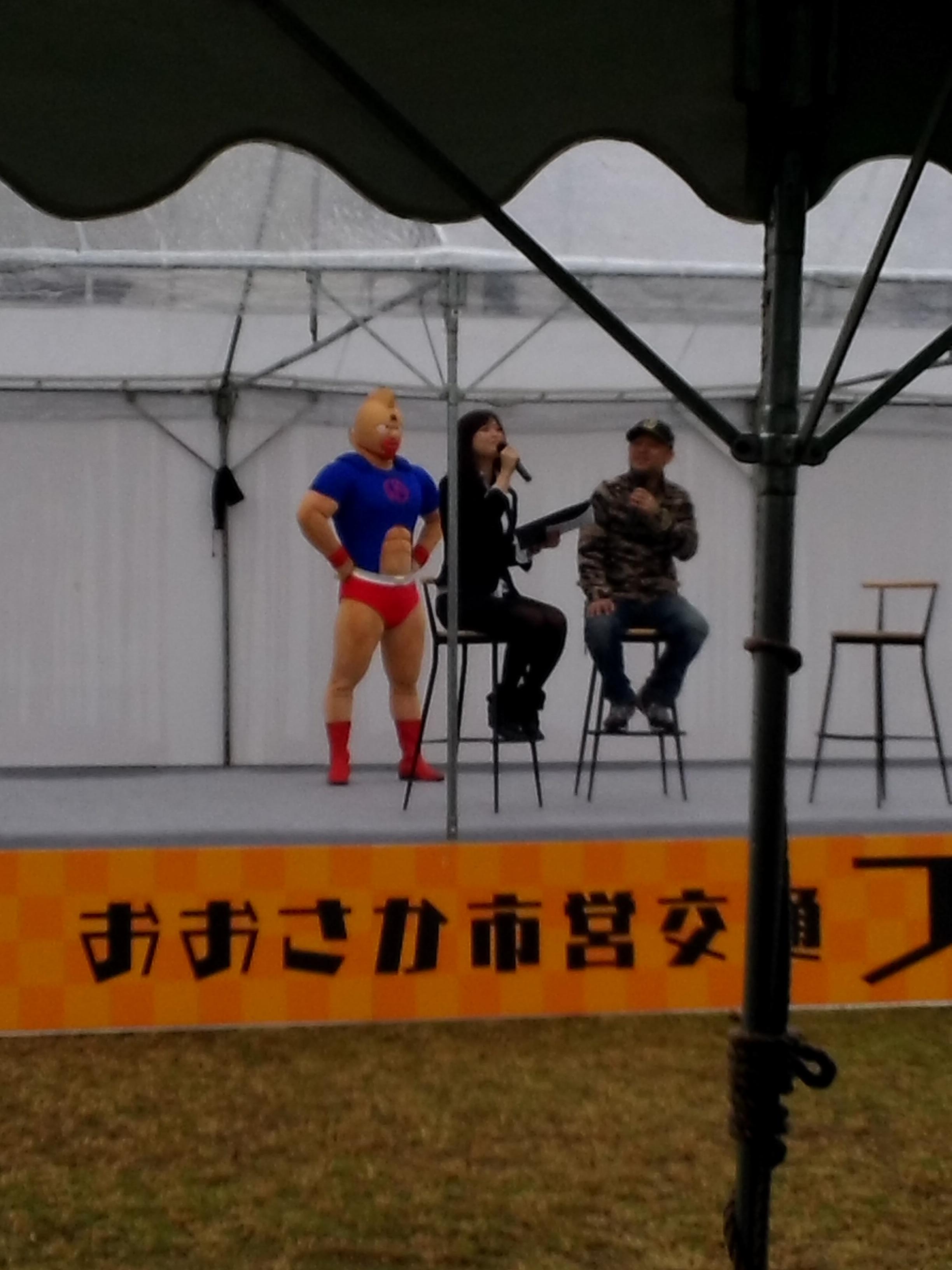 緑木操車場でゆてたまご先生のトークショーをみた